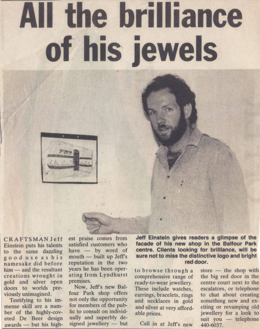 Newspaper article, 1985