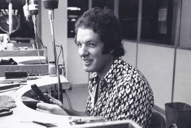 Jeff as a young jeweller